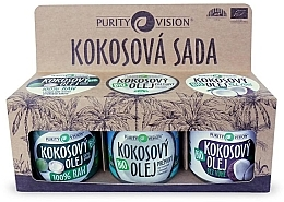 Düfte, Parfümerie und Kosmetik Körperpflegeset - Purity Vision Bio (Kokosnussbutter 3x 120ml)