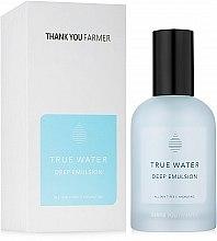 Düfte, Parfümerie und Kosmetik Tief feuchtigkeitsspendende Gesichtsemulsion für alle Hauttypen - Thank You Farmer True Water Deep Emulsion