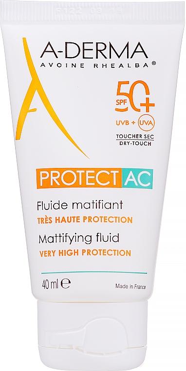 Mattierendes Sonnenschutzfluid für das Gesicht SPF 50+ - A-Derma Protect AC Mattifying Fluid SPF 50