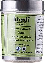 Erfrischende und ausgleichende Gesichtsmaske für normale bis fettige Haut - Khadi Neem Herbal Face Mask — Bild N1