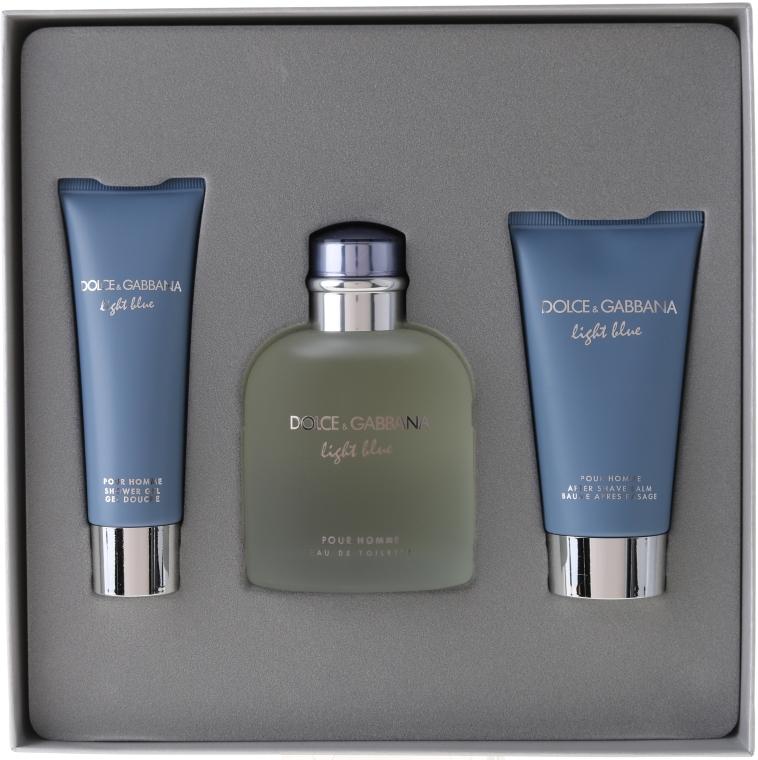 Dolce & Gabbana Light Blue Pour Homme - Duftset (Eau de Toilette 125ml + Duschgel 50ml + After Shave Balsam 75ml) — Bild N1
