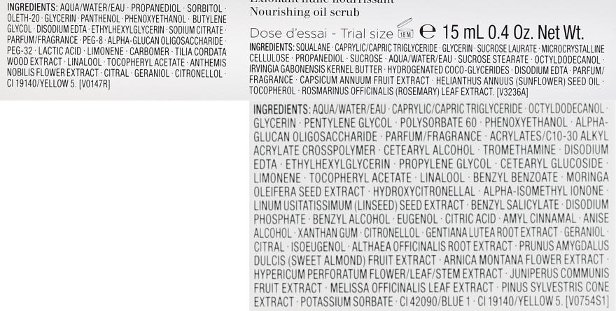 Gesichtspflegeset - Clarins Cleansing Trousse for Normal to Dry Skin (Gesichtsmilch 200ml+Gesichtslotion 200ml+Gesichtspeeling 30ml+Kosmetiktasche) — Bild N2