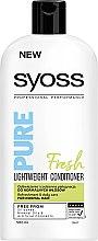 Düfte, Parfümerie und Kosmetik Erfrischende Haarspülung für normales Haar - Syoss Pure Fresh Lightweight Conditioner