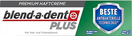 Haftcreme für Voll- und Teilprothesen - Blend-A-Dent Premium Adhesive Cream Plus Dual Protection Fresh