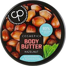 Düfte, Parfümerie und Kosmetik Regenerierende Körperbutter mit Haselnussextrakt - Cosmepick Body Butter Hazelnut