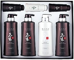 Düfte, Parfümerie und Kosmetik Haarpflegeset - Daeng Gi Meo Ri Ki Gold Hair Care Set (Shampoo 3x500ml + Haarspülung 500ml + Shampoo 2x70ml + Haarspülung 70ml)