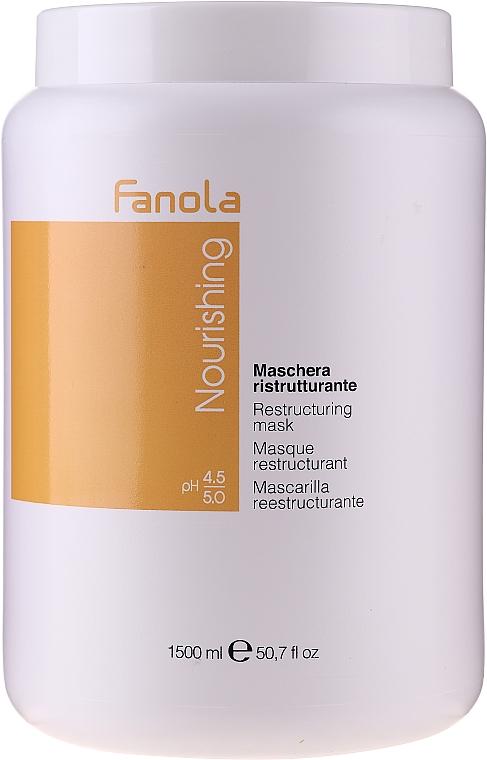 Restrukturierende Pflegemaske für trockenes und krauses Haar - Fanola Nourishing Restructuring Mask
