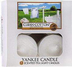 Düfte, Parfümerie und Kosmetik Teelichte - Yankee Candle Scented Tea Light Candles Clean Cotton