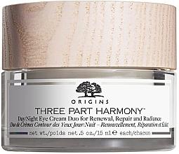 Düfte, Parfümerie und Kosmetik Erneuernde und regenerierende Augenkonturcreme für Tag und Nacht - Origins Three Part Harmony Day and Night Eye Cream Duo