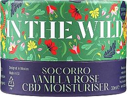 Düfte, Parfümerie und Kosmetik Feuchtigkeitsspendende Gesichtscreme mit Canabidiol und Vanilleextrakt für Aknehaut - In The Wild Socorro Vanilla Rose CBD Moisturiser