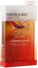 Düfte, Parfümerie und Kosmetik 4-stufige Mango Delight Fußpflege - Voesh Deluxe Pedicure Mango Delight In A Box 4in1 (1. Meer Badesalz, 2. Zuckerpeeling, 3. Schlammmaske, 4. Massagebutter)(35g)