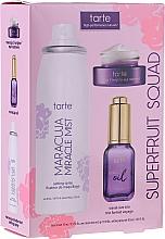 Düfte, Parfümerie und Kosmetik Körperpflegeset - Tarte Cosmetics Superfruit Squad (Fixierspray 30ml + Mehrzweck-Passionsfruchtöl 15ml + Augencreme 5g)