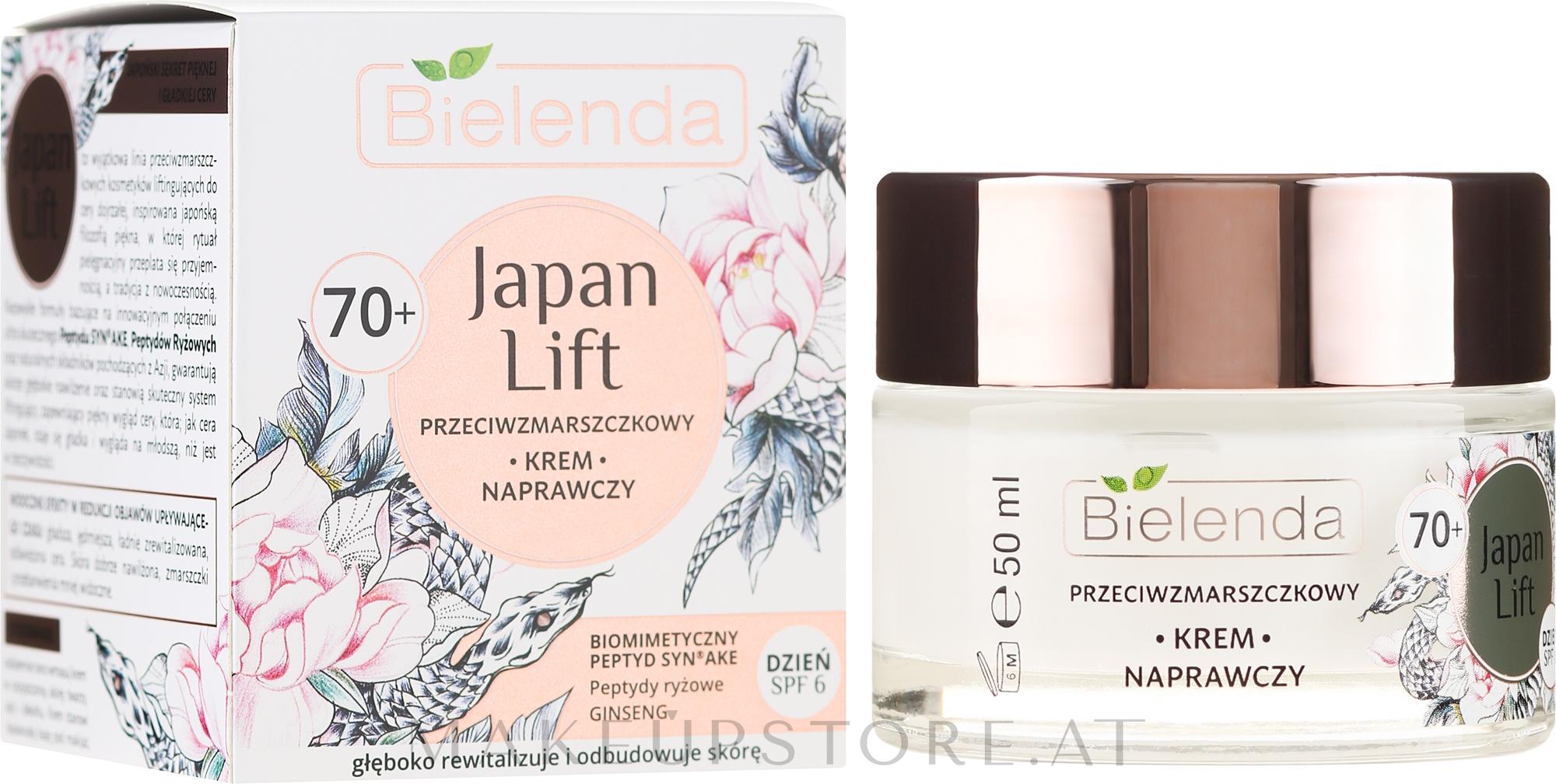 Regenerierende Anti-Falten Tagescreme 70+ - Bielenda Japan Lift Day Cream 70+ SPF6 — Bild 50 ml