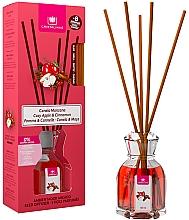 Düfte, Parfümerie und Kosmetik Aroma-Diffusor mit Duftstäbchen Apfel und Zimt - Cristalinas Reed Diffuser