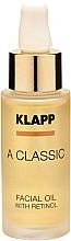 Düfte, Parfümerie und Kosmetik Revitalisierendes Gesichtsöl mit Retinol - Klapp A Classic Facial Oil With Retinol