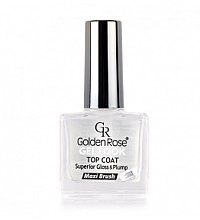 Düfte, Parfümerie und Kosmetik Gel Nagelüberlack - Golden Rose Top Coat Gel Look