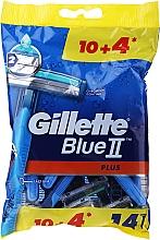 Düfte, Parfümerie und Kosmetik Einwegrasierer-Set 10+4 St. - Gillette Blue II Plus