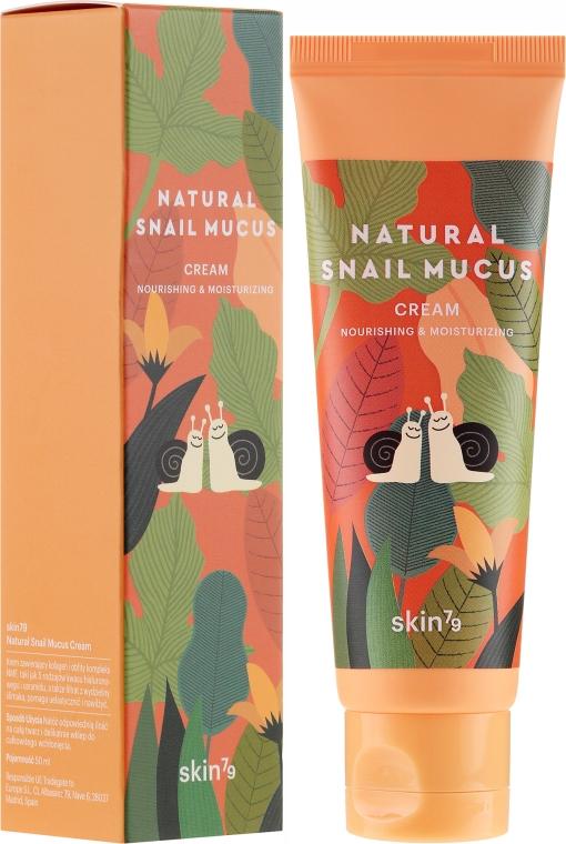 Feuchtigkeitsspendende und pflegende Gesichtscreme mit Schneckenschleim - Skin79 Natural Snail Mucus Cream