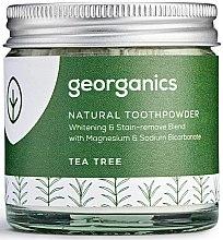 Düfte, Parfümerie und Kosmetik Aufhellendes natürliches Zahnpulver mit Teebaumöl - Georganics Tea Tree Natural Toothpowder