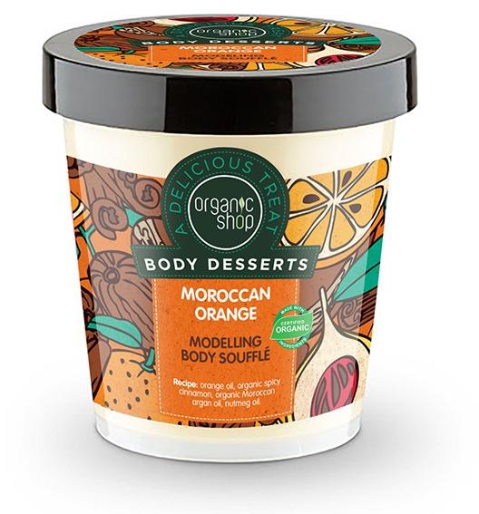 Anti-Cellulite-Körpersouffle mit Bio Orangenöl und marokkanischem Arganöl - Organic Shop Body Desserts Moroccan Orange Souffle