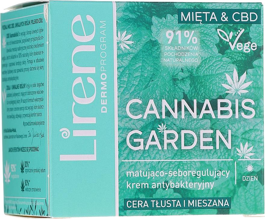 Seboregulierende, mattierende und antibakterielle Gesichtscreme für fettige und Mischhaut - Lirene Cannabis Garden Mint & CBD — Bild N1