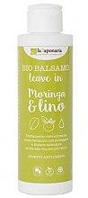 Düfte, Parfümerie und Kosmetik Restrukturierende Haarspülung Moringaextrakt und Leinöl für jeden Haartyp - La Saponaria Leave-in Conditioner Moringa & Lino