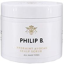 Düfte, Parfümerie und Kosmetik Kopfhautpeeling mit Minze und Avocado - Philip B Peppermint Avocado Scalp Scrub