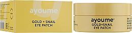 Düfte, Parfümerie und Kosmetik Augenpatches mit Gold- und Schneckenmucin - Ayoume Gold + Snail Eye Patch