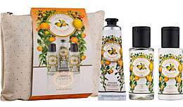 Düfte, Parfümerie und Kosmetik Körperpflegeset - Panier Des Sens Provence (Körperlotion 50ml + Handcreme 30ml + Duschgel 50ml + Kosmetiktasche)
