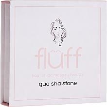 Düfte, Parfümerie und Kosmetik Stein für Gesichtsmassage aus rosa Quarz - Fluff Gua Sha Stone
