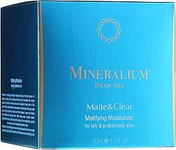 Düfte, Parfümerie und Kosmetik Mattierende und feuchtigkeitsspendende Gesichtscreme für fettige und Problemhaut - Mineralium Dead Sea Matte & Clear