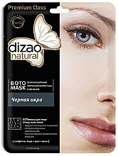 Düfte, Parfümerie und Kosmetik Glättende und verjüngende Anti-Falten Tuchmaske mit schwarzem Kaviar für Gesicht, Hals und Augenlider - Dizao Natural