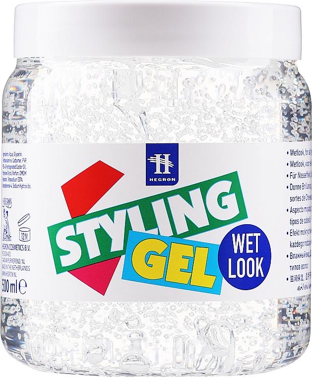 Haarstyling-Gel mit Nass-Effekt - Hegron Styling Gel Wet Look