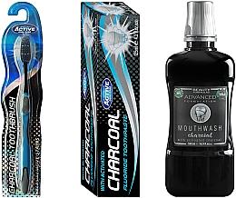 Düfte, Parfümerie und Kosmetik Mundpflegeset - Beauty Formulas Charcoal (Mundwasser 500ml + Zahnbürste 1 St. + Zahnpasta 125g)