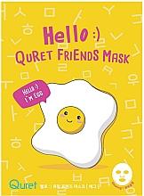 Düfte, Parfümerie und Kosmetik Gesichtsmaske mit Eiweiß - Quret Hello Friends Mask Egg