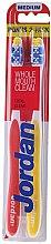 Düfte, Parfümerie und Kosmetik Zahnbürste mittel Total Clean gelb, rot 2 St. - Jordan Total Clean Medium