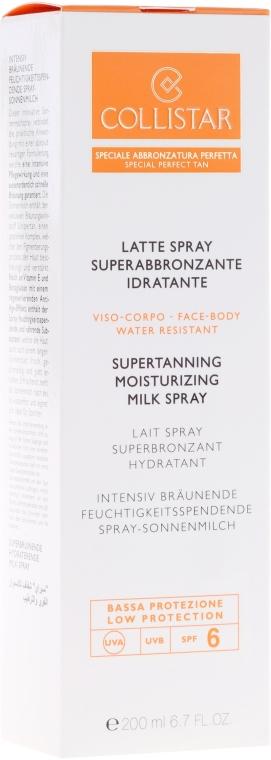 Intensiv bräunende feuchtigkeitsspendende Spray-Sonnenmilch SPF 6 - Collistar Supertanning Moisturing Milk Spray SPF 6 water resistant — Bild N2