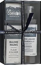 "Düfte, Parfümerie und Kosmetik Handpflegeset - La Corvette ""Provence"" (Seife 100g + Flüssigseife 250ml + Handcreme 75ml)"