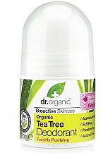 Düfte, Parfümerie und Kosmetik Deodorant mit Teebaumextrakt - Dr. Organic Bioactive Skincare Tea Tree Roll-On Deodorant