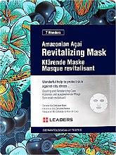 Düfte, Parfümerie und Kosmetik Revitalisierende Gesichtsmaske mit Kohlpalme - Leaders 7 Wonders Amazonian Acai Revitalizing Mask