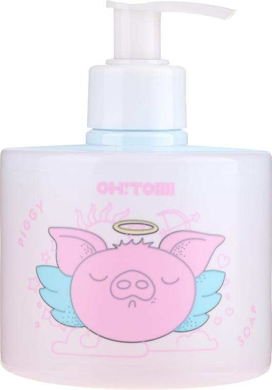 Natürliche Flüssigseife mit Himbeer- und Erdbeerextrakt - Oh!Tomi Piggy Liquid Soap — Bild N1