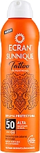 Düfte, Parfümerie und Kosmetik Sonnenschutzspray für tätowierte Haut mit Panthenol SPF 50 - Ecran Sunnique Tattoo Protective Mist SPF50