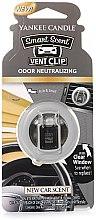 Düfte, Parfümerie und Kosmetik Yankee Candle Smart Scent Vent Clip New Car Scent - Flüssiger Auto-Lufterfrischer