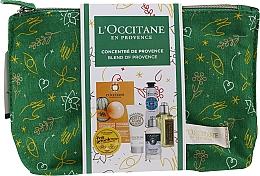 Düfte, Parfümerie und Kosmetik Gesichts-, Haar- und Körperpflegeset - L'Occitane Christmas Set (Universal-Balsam 15ml + Gesichtsmaske 6ml + Körpermilch 20ml + Haarcreme 10ml + Shampoo 35ml + Duschgel 30ml + Kosmetiktasche)