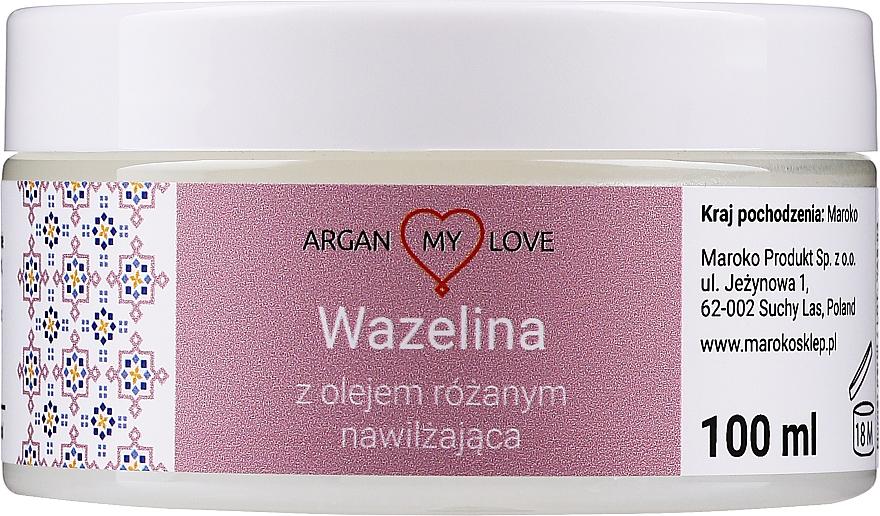 Vaseline für Gesicht und Körper mit Rosenöl - Argan My Love