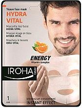 Düfte, Parfümerie und Kosmetik Tuchmaske mit Vitaminkomplex und Hyaluronsäure - Iroha Nature Hydra Vital Energy Vitamin Complex Tissue Face Mask