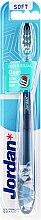 Düfte, Parfümerie und Kosmetik Zahnbürste weich Individual Clean grau-blau mit Eule - Jordan Individual Clean Soft