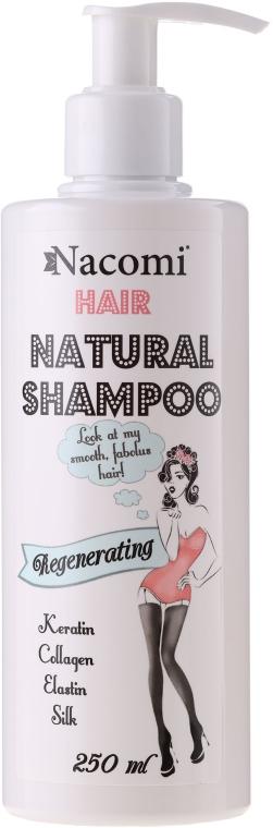 Pflegendes und regenerierendes Haarshampoo mit Keratin, Kollagen und Elastin - Nacomi Natural Regenerating Shampoo