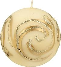 Düfte, Parfümerie und Kosmetik Dekorative Kerze Ball creme 8 cm - Artman Christmas Ornament