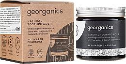 Düfte, Parfümerie und Kosmetik Natürliches Zahnpulver mit Aktivkohle - Georganics Activated Charcoal Natural Toothpowder